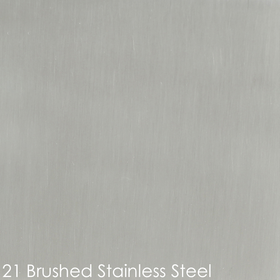 21 - brushed stainless steel